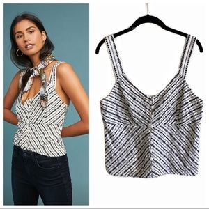 Anthropologie Maeve Sylvia Embroidered top medium